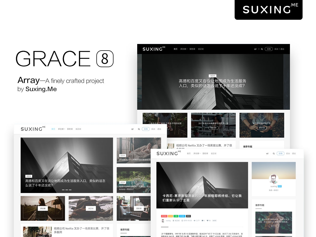 WordPress主题 苏醒 Grace V8.0 破解版-手游资源站