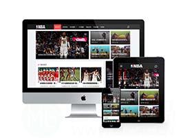 响应式NBA体育赛事资讯类织梦模板(自适应手机端)