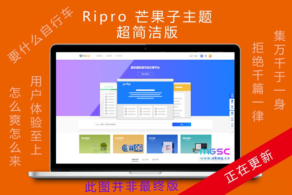 【预售】全新首发ripro新款子主题,更新中!