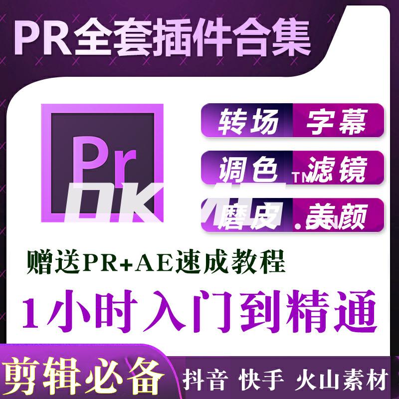 PR/AE2018/2019cc转场插件软件合集全套教程一键远程安装包素材
