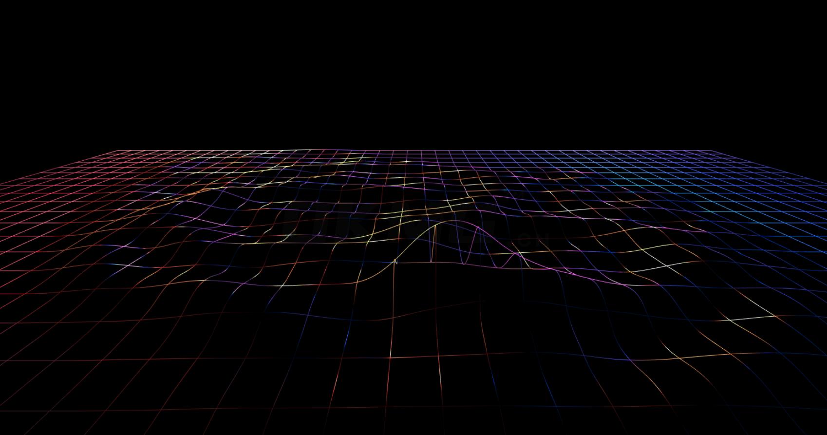 酷炫3D液体网状波浪动画特效