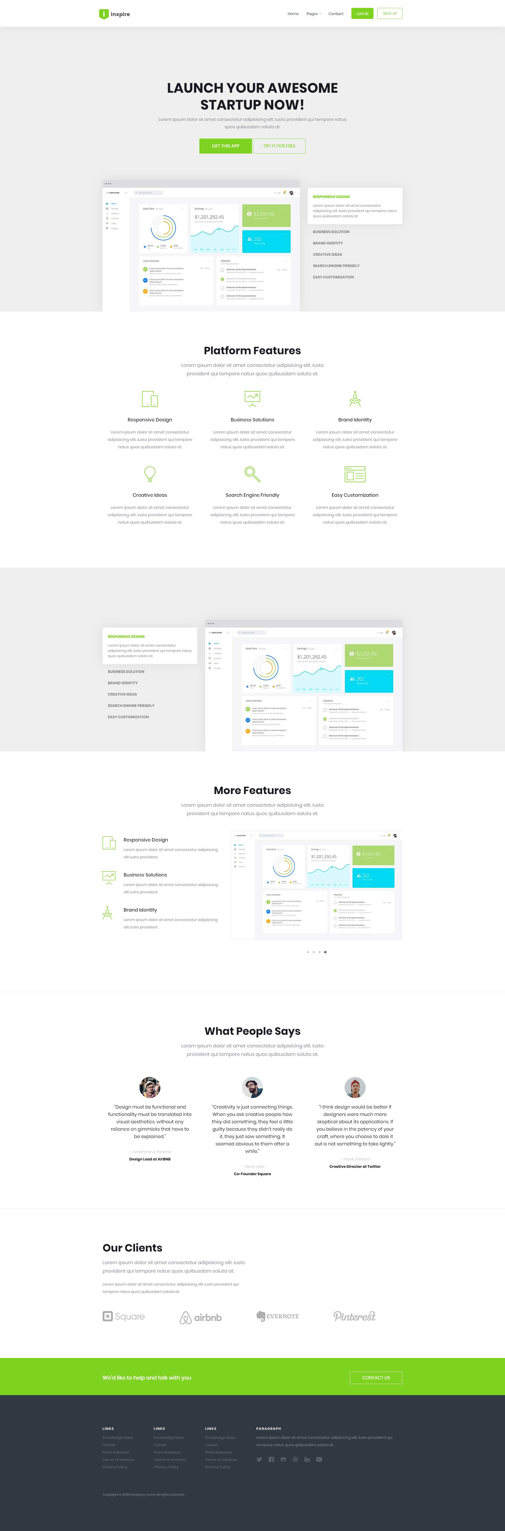 响应式软件管理平台网站模板