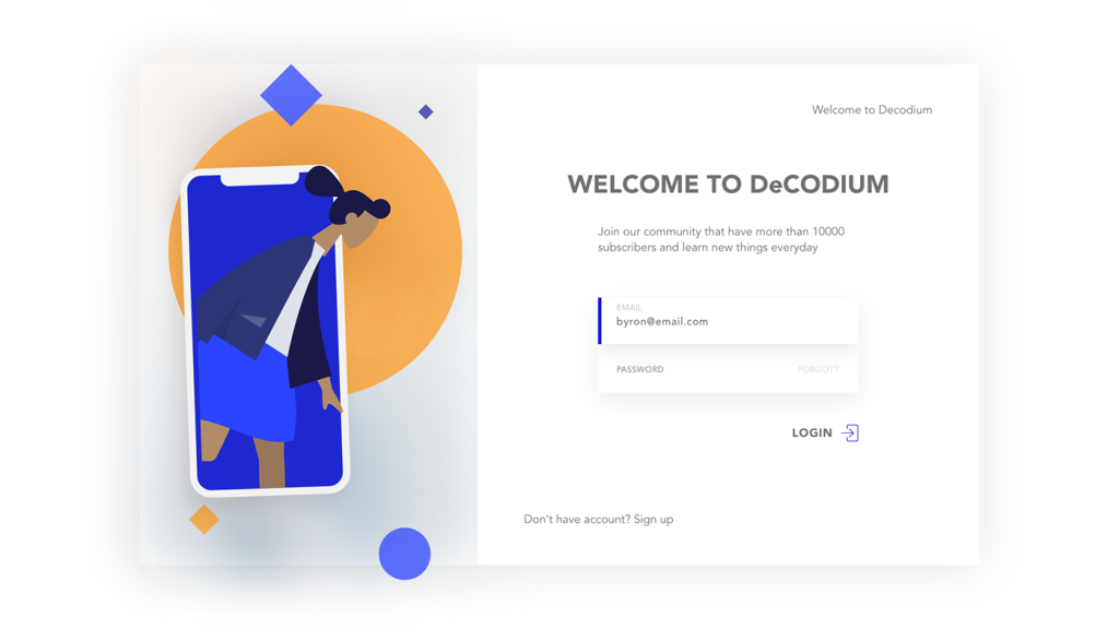 Adobe XD Login Screens Designs