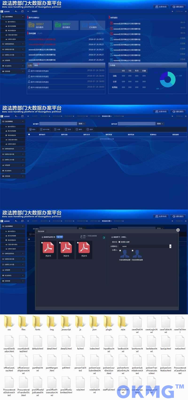 政法跨部门数据办公平台页面模板
