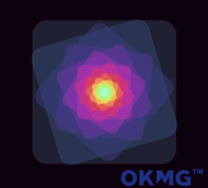 彩色的同心矩形动画特效