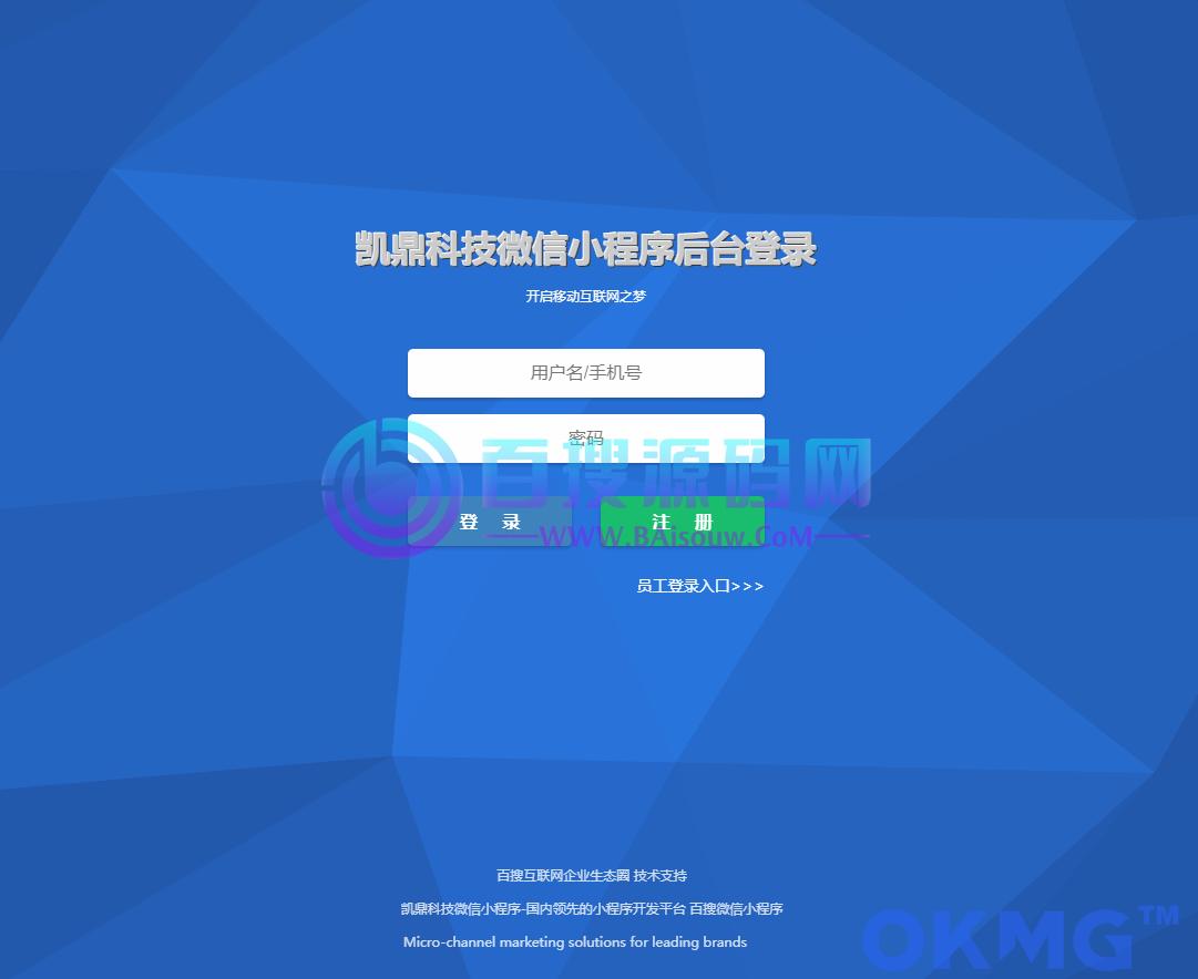 百搜云端多行业小程序制作系统,基于WEB搭建的小程序框架