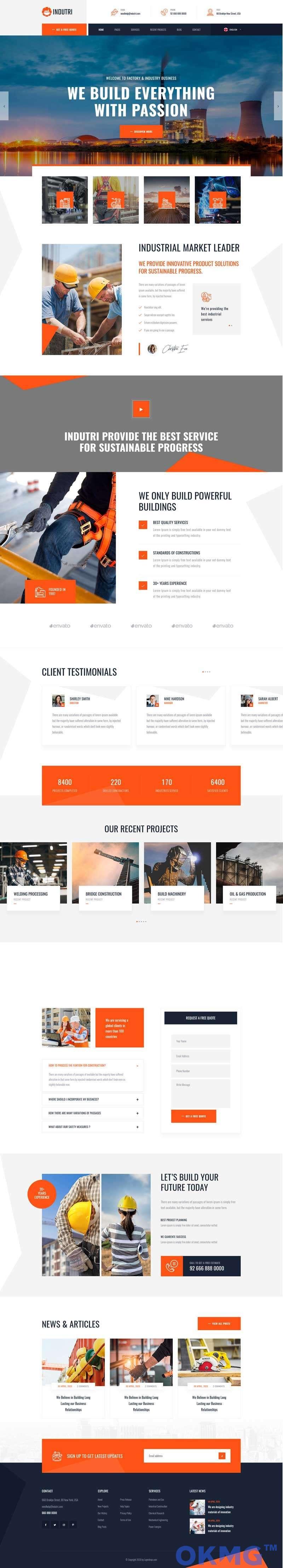 建筑工业企业官网HTML模板