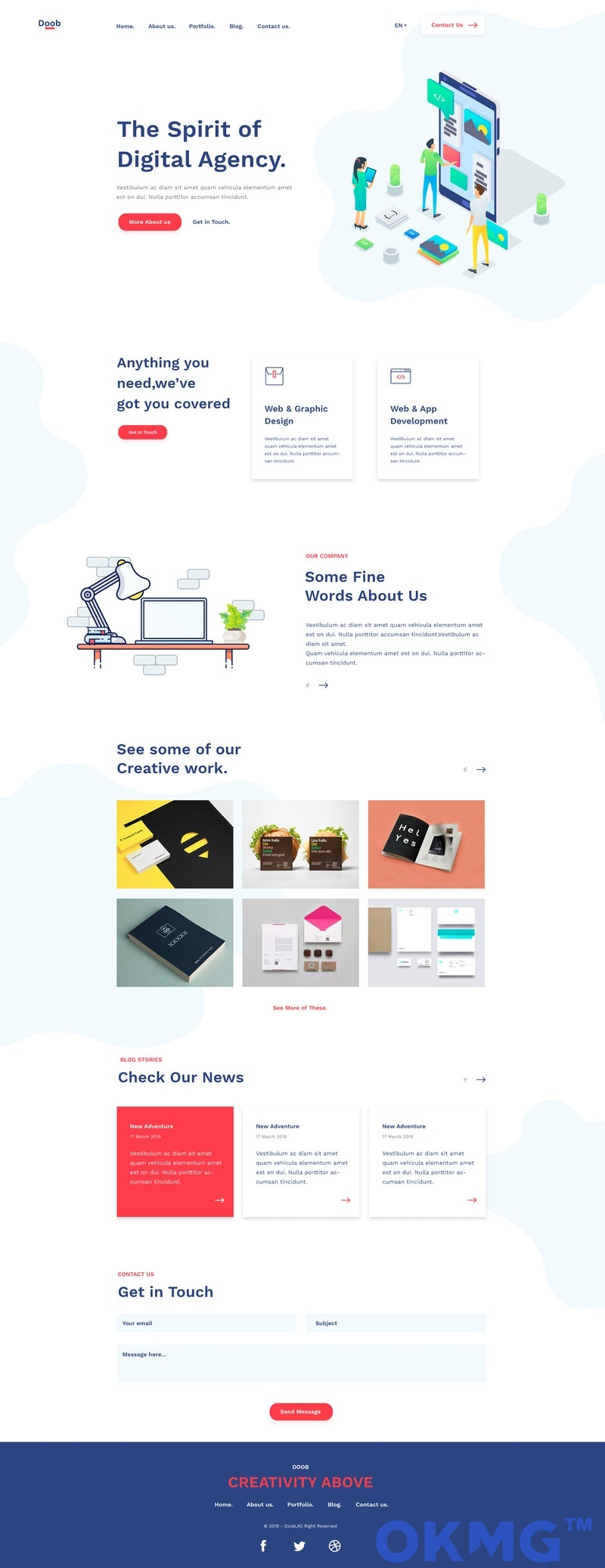 Doob-免费代理商HTML模板