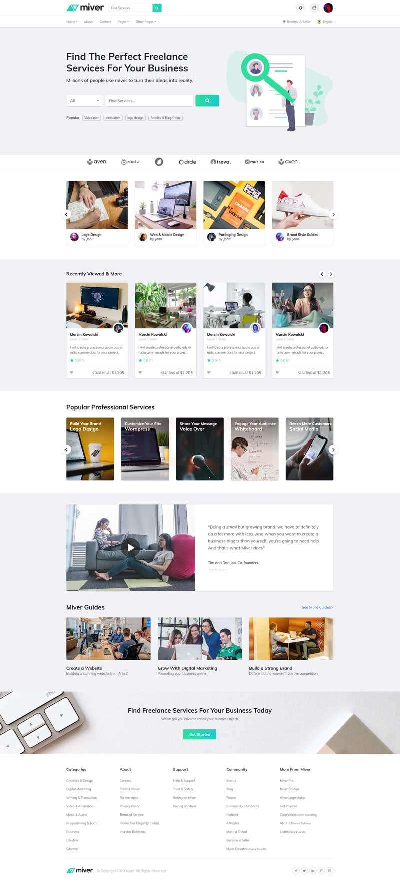 兼职服务招聘平台网站HTML模板
