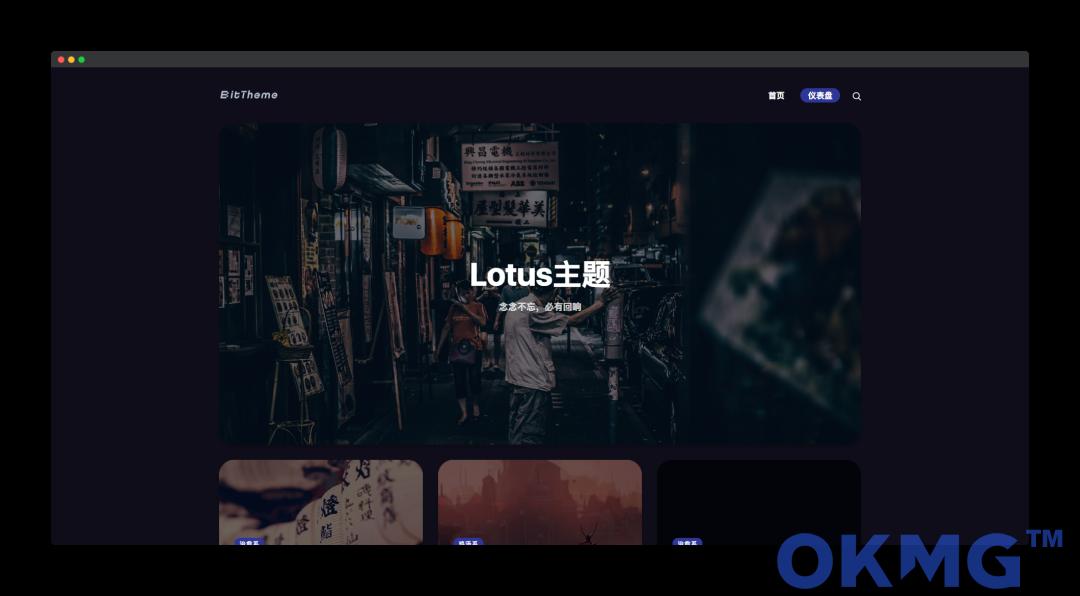 暗黑极客自媒体WordPress主题:Lotus