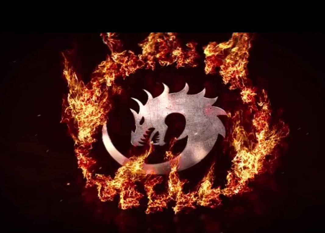 圆环火焰标志动画