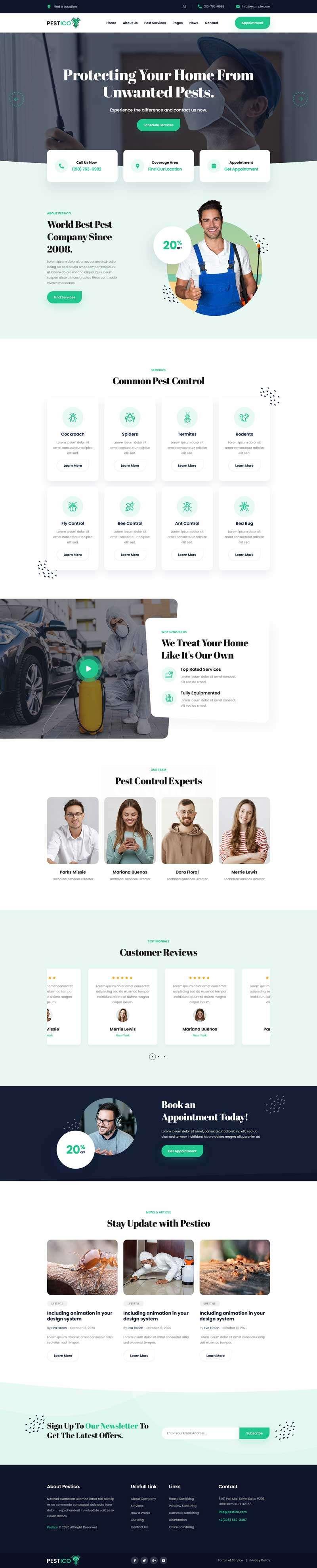 害虫防治服务公司官网html模板